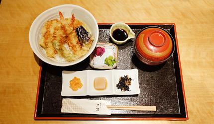 海老蔬菜天婦羅定食